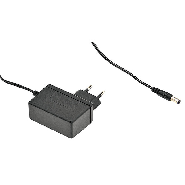 Mean Well Steckernetzteil Eco Friendly 12 V / 1 A mit Hohlstecker 2,1 x 5,5 mm