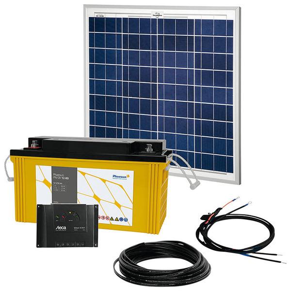 Phaesun Solar Komplett-Set Solar Rise One 2.0, 50 W, 12 V