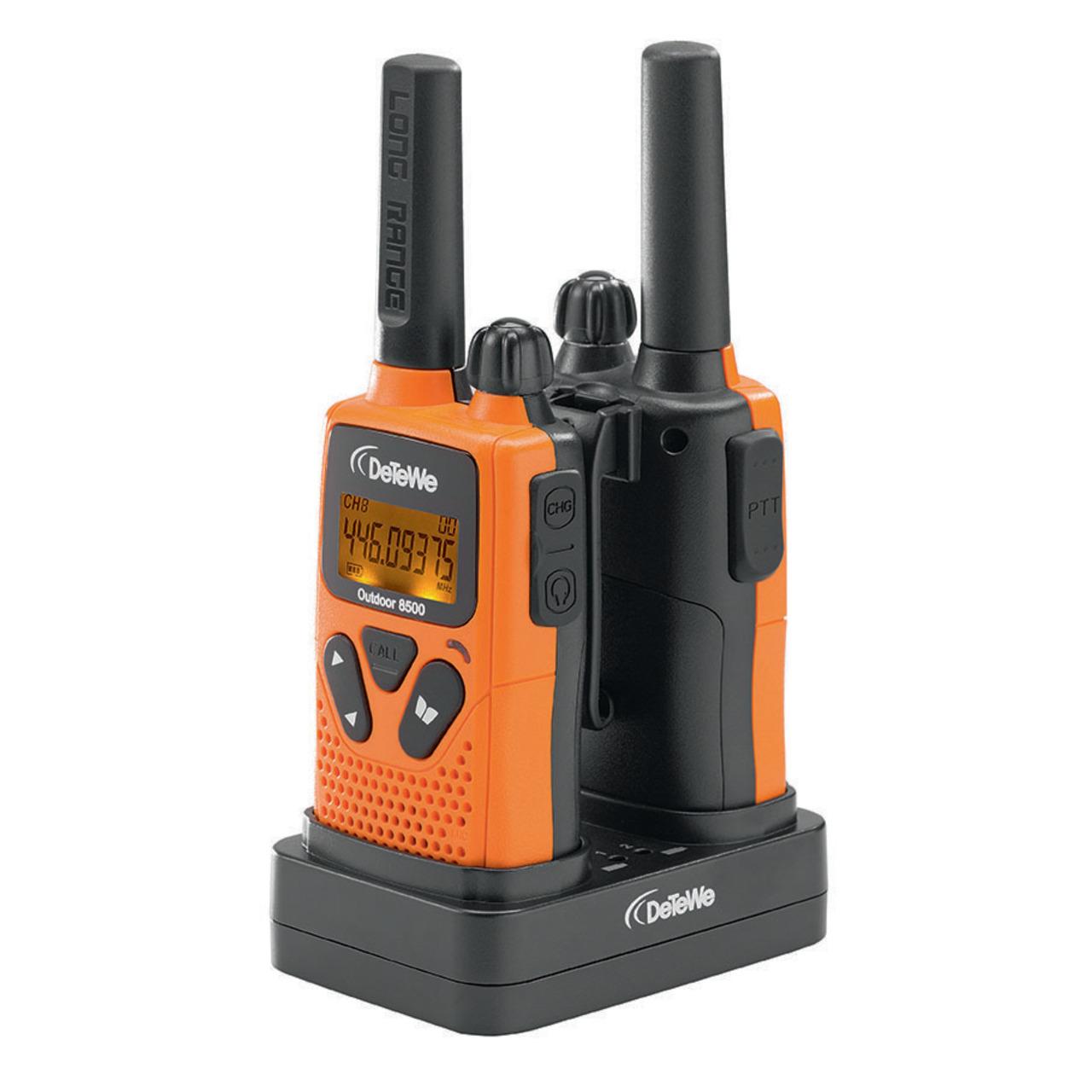 DeTeWe PMR-Handfunkgerät Outdoor 8500- 2er Set