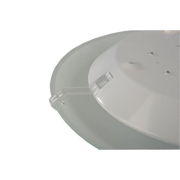 ELV 8-W-LED-Deckenleuchte mit Glaskuppel, 850 lm, IP20, warmweiß