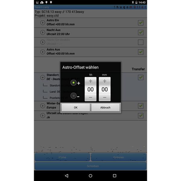 Hugo Müller SC18.13 easy 1-Kanal-Zeitschaltuhr mit Astrofunktion und Programmierung per App