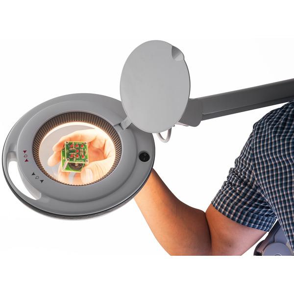 ELV LED-Lupenleuchte, 1,75-fache Vergrößerung, warmweiß/kaltweiß, dimmbar, wechselbare Linse