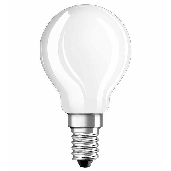 OSRAM LED RETRO Glass Bulb 4-W-Filament-LED-Tropfenlampe, E14, matt