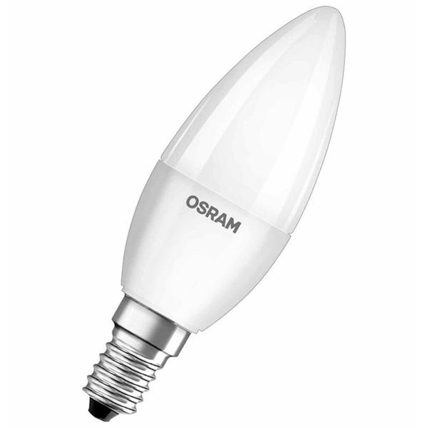 OSRAM LED STAR 5,5-W-LED-Kerzenlampe E14, neutralweiß, matt