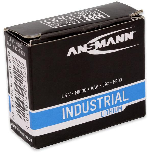 Ansmann Lithium-Batterie Micro AAA, 10er-Pack