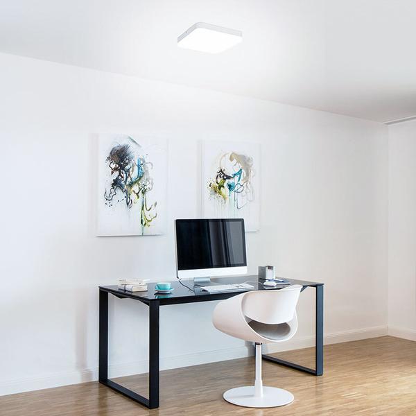Müller Licht 25-W-LED-Deckenleuchte Office Square, warmweiß
