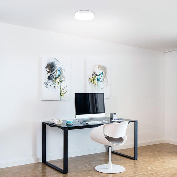 Müller Licht 24-W-LED-Deckenleuchte Office Round Sensor mit HF-Bewegungsmelder, warmweiß