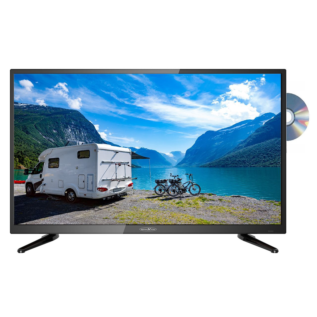 Reflexion 5-in-1-LED-TV LDD3288- 81 cm (32)- DVD-Player- DVB-S-S2-C-T-T2- H-265-HEVC- 12V-Anschluss