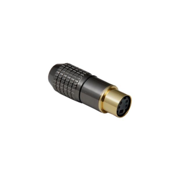 BKL Electronic Mini-DIN-Kupplung 8-pol., hochwertige Metallausf., Anschlüsse und Kontakte vergoldet