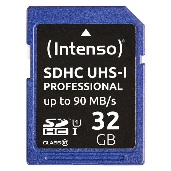Intenso SDHC-Speicherkarte, UHS-I, 90 MB/s, 32 GB
