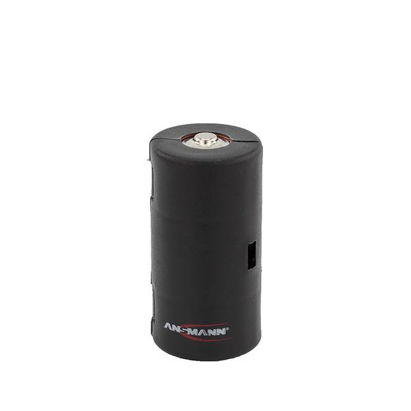 Ansmann Adapter Mono R20 / D in Schwarz für Mignonzellen