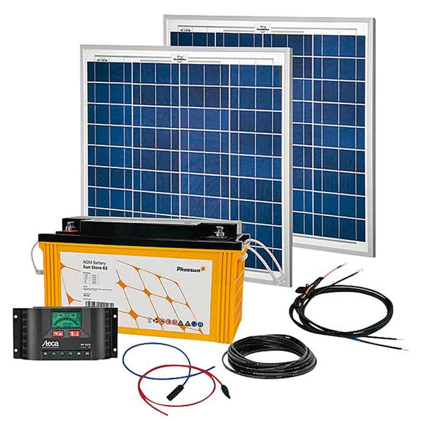 Phaesun Solar Komplett-Set Solar Rise Two 2.0, 100 W, 12 V