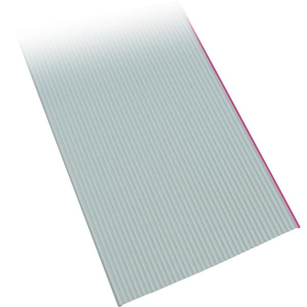 BKL Electronic Flachbandleitung AWG 28, grau, 10 m