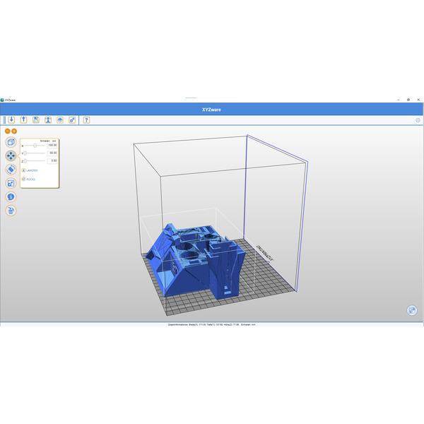XYZprinting FFF-3D-Drucker da Vinci 1.0 Pro, 3-in-1-Fertiggerät, 3D-Scanner, Lasergravierer