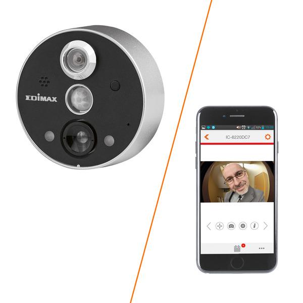 EDIMAX Türspionkamera mit Appsteuerung IC-6220DC