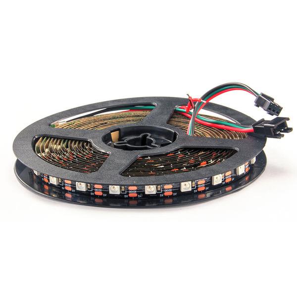Diamex 4-m-LED-Streifen mit WS2812-kompatiblen-LEDs, 60 LEDs/m, schwarze Platine