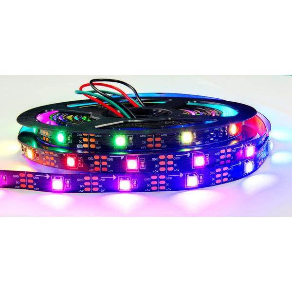 Diamex 5-m-LED-Streifen mit WS2812-kompatiblen-LEDs, 30 LEDs/m, schwarze Platine