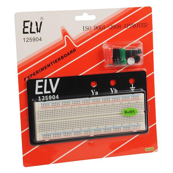 ELV Steckplatine/Breadboard 102B, 830 Kontakte