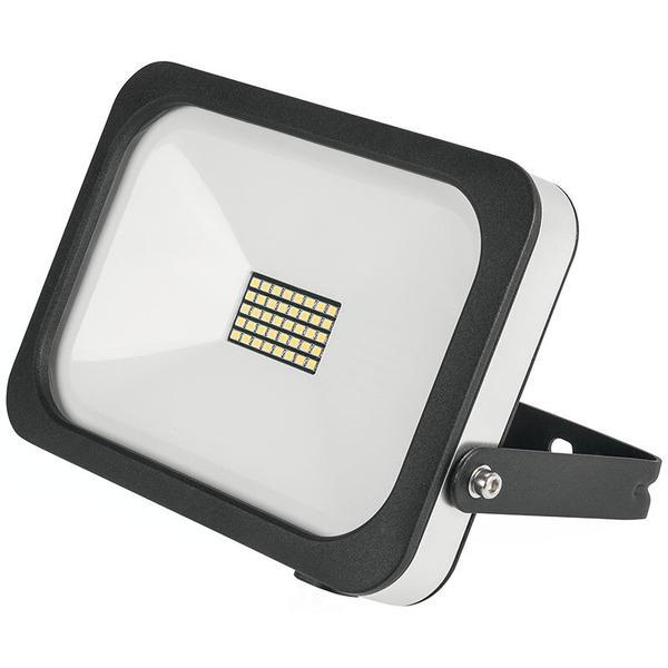 ELV 20-W-Slim-LED-Flutlichtstrahler, kaltweiß, IP54, abgesetzte Anschlussbox