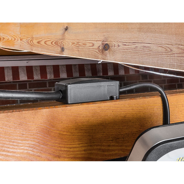 ELV 10-W-Slim-LED-Flutlichtstrahler, kaltweiß, IP54, abgesetzte Anschlussbox