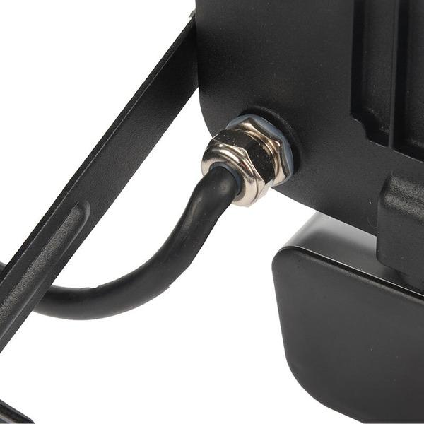 ELV 10-W-Slim-LED-Flutlichtstrahler mit PIR-Bewegungsmelder, kaltweiß, IP54, abgesetzte Anschlussbox