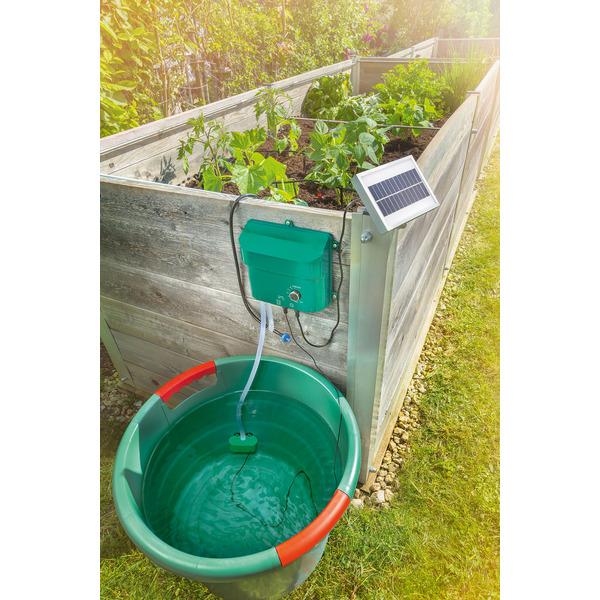 esotec Solar-Bewässerungssystem Water Drops mit 15 Tropfstellen, Akkubetrieb