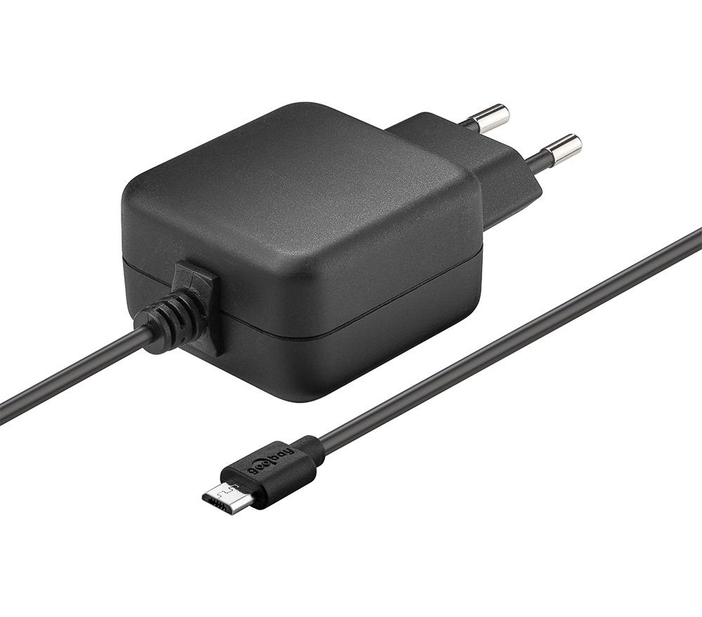 Goobay Micro USB Netzteil (5 V3,1 A) für Raspberry Pi 1, 2, 3 (Raspberry Pi 4 mit Typ C Adapter)