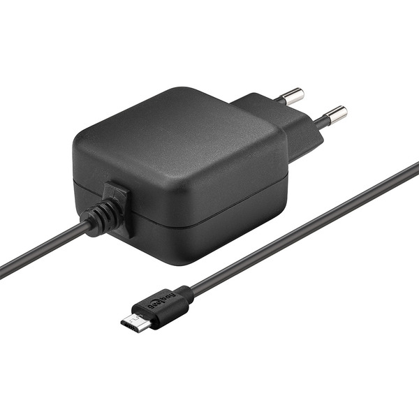 Goobay Micro-USB-Netzteil (5 V/3,1 A) für Raspberry Pi 1, 2, 3 (Raspberry Pi 4 mit Typ-C-Adapter)