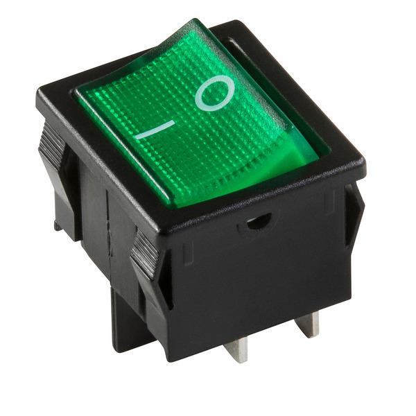 inter Bär Einbau-Wippenschalter Serie 3628, schwarz grün