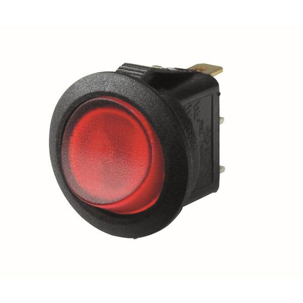 inter Bär Einbau-Wippenschalter Serie 3630, 6,5 A, 250 V,weiß/rot
