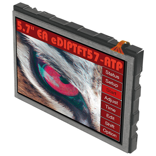 Electronic Assembly LCD-Bedieneinheit mit Touch EA eDIPTFT57-ATP, 640 x 480 Pixel