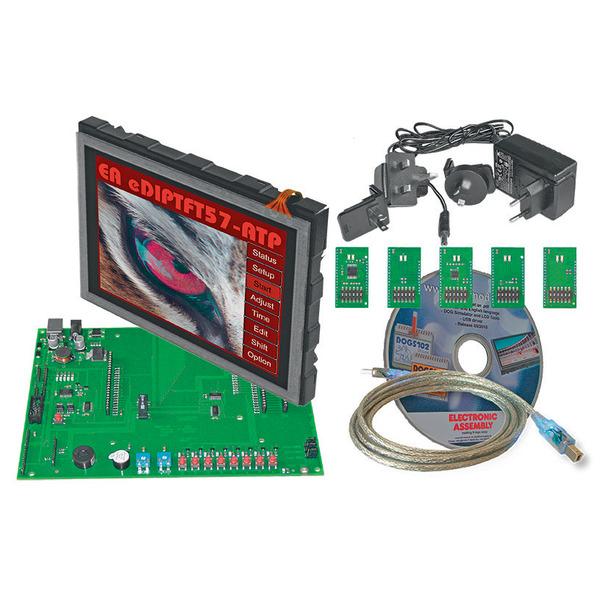 Electronic Assembly Starterkit mit Grafik-LCD EA EVALeDIPTFT57, 640 x 480 Pixel