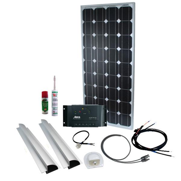 Phaesun Solar Komplett-Set Caravan Kit Base Camp One 100 W, 12 V inkl. 15 A Solarladeregler
