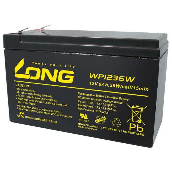 Kung Long Blei-AGM-Akku WP1236W, 12V, 36 W, 9Ah