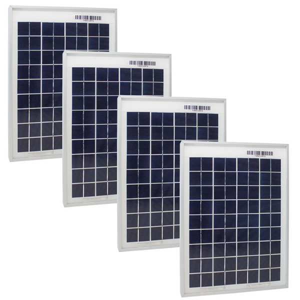 Phaesun Polykristalline Solarmodul Sun Plus 10, 12 V, 10 W, 4er-Spar-Set