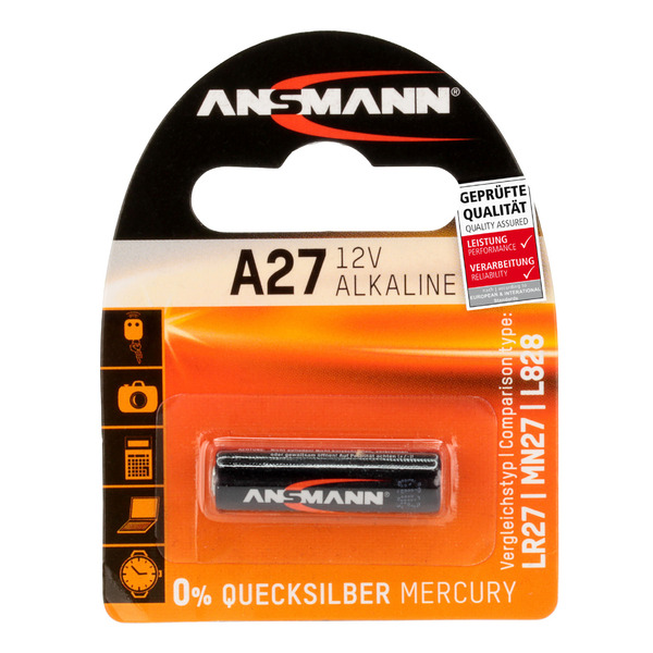 Ansmann Alkaline-Batterie Typ 27A, 12 V