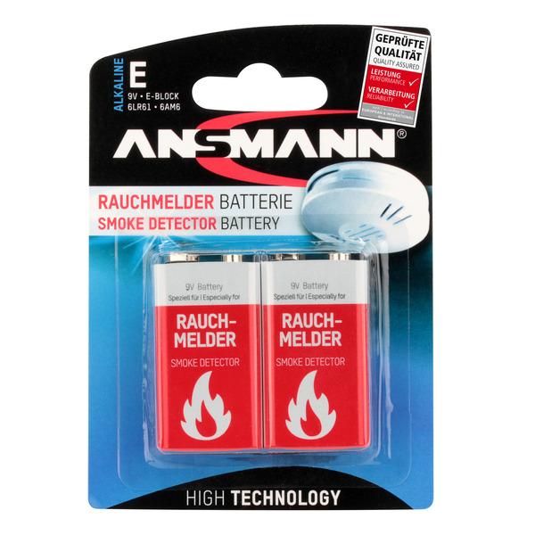 Ansmann Alkaline Batterie 9-V-Block für Rauchmelder