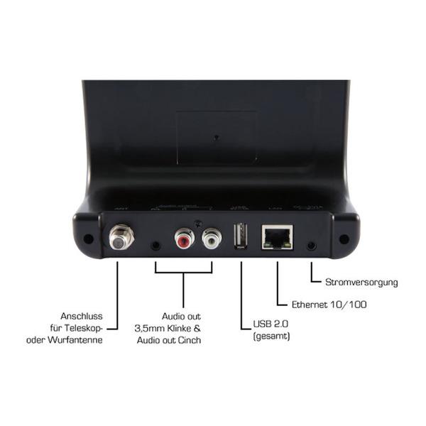 Imperial Radio-Adapter DABMAN i400, DAB+/UKW-/Internetradio, mit Bluetooth und USB, schwarz