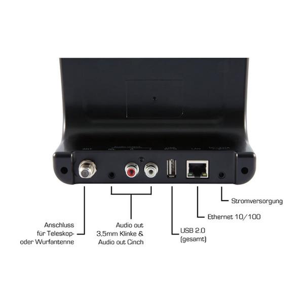 Imperial Radio-Adapter DABMAN i400, DAB+/UKW-/Internetradio, mit Bluetooth und USB, silber