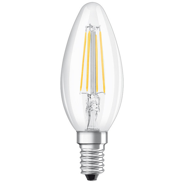 OSRAM 2er Pack 4-W-Filament-LED-Kerzenlampe, E14, warmweiß