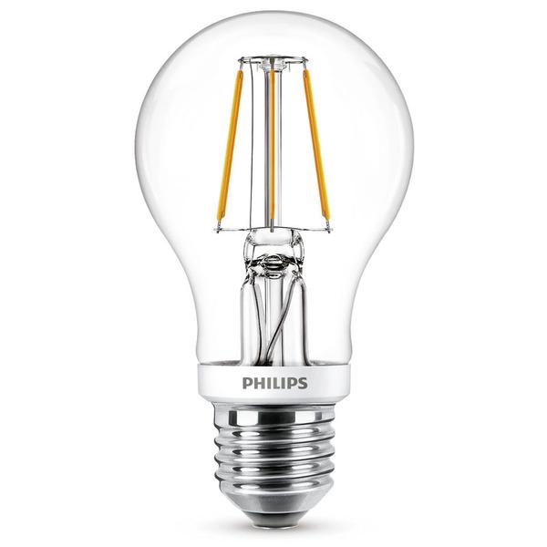 Philips 7,5-W-LED-Lampe Classic LEDbulb, E27, 806 lm, dimmbar, warmweiß