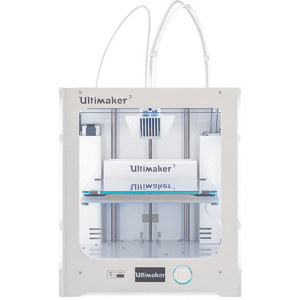 Ultimaker 3 3D-Drucker, Dual Extruder, WiFi, Fertiggerät