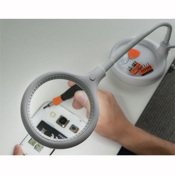 goobay Stand/Klemm-LED-Lupenleuchte mit flexiblem Schwanenhals, 5 W