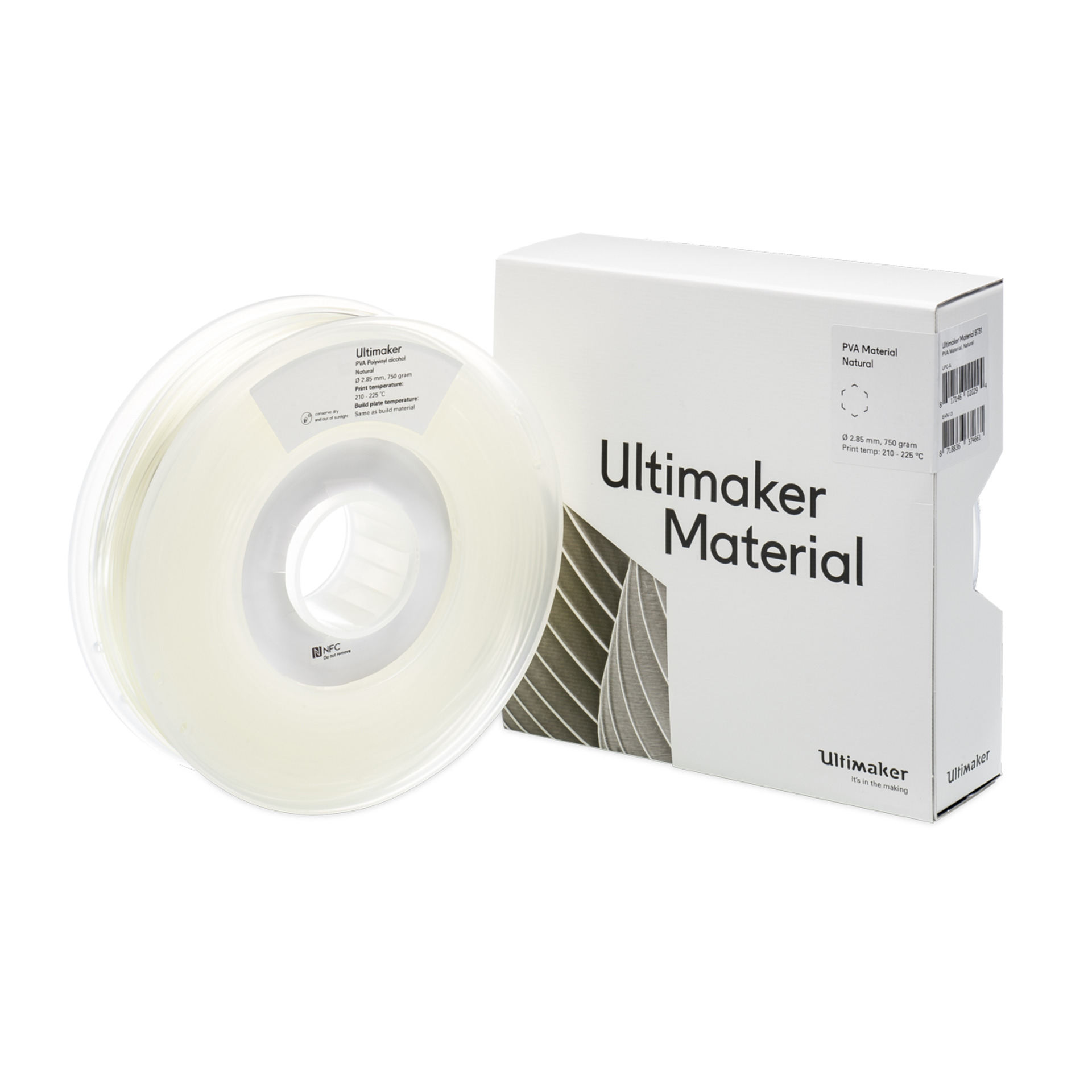 Ultimaker 3 PVA-Filament- 2-85 mm- 750 g- natur