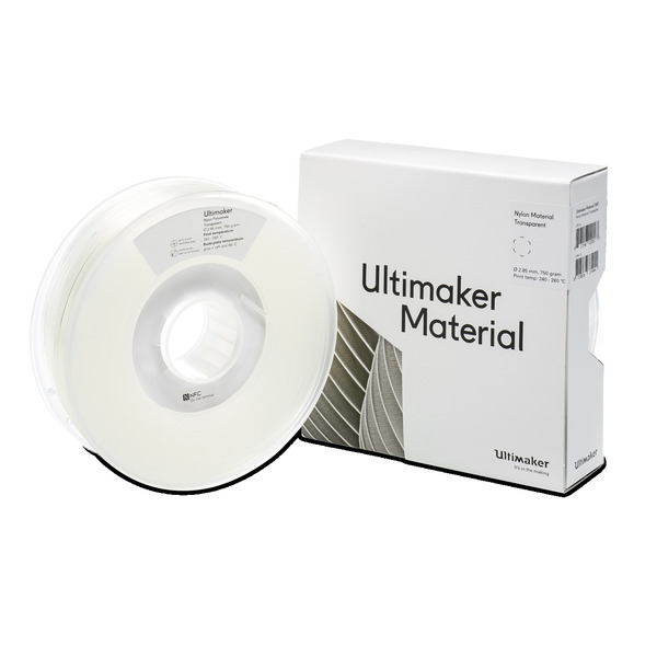 Ultimaker 3 PAX/Nylon-Filament, 2,85 mm, 750 g, transparent