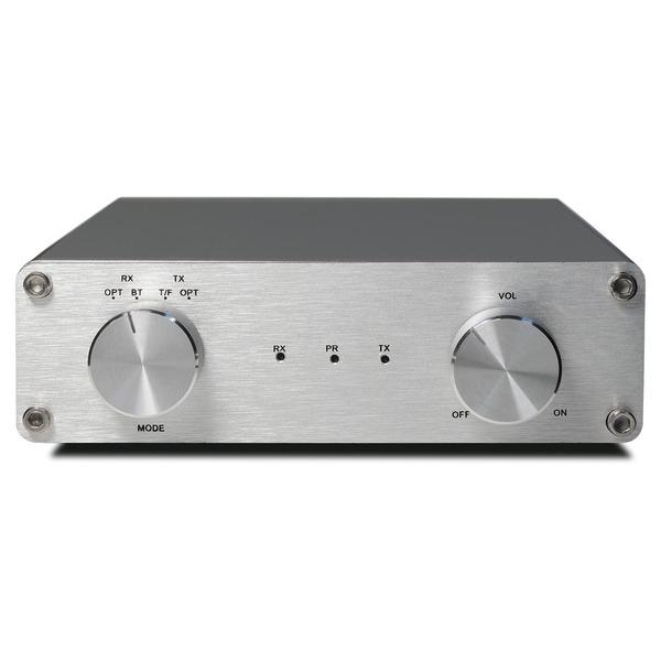 FeinTech Stereo-Audio-Verstärker, 40-W-RMS, Class-D, Bluetooth-Sender-/Empfänger, kompaktes Gehäuse