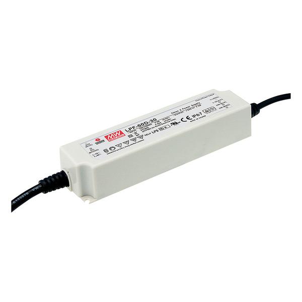 Mean Well Schaltnetzteil LPF-60-12, 60W, 12V, 5A, IP67