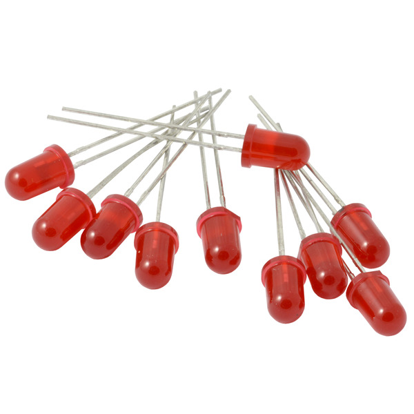 Kemo LED-Sortiment S062, rot, 5 mm Durchmesser, ca. 10 Stück
