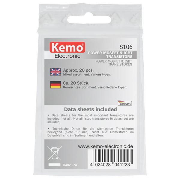Kemo Power MOSFET und IGBT Transistoren-Sortiment S106, ca. 20 Stück