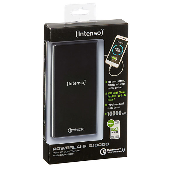 Intenso Powerbank Q10000 Quick-Charge, 10.000 mAh, schwarz